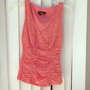 Lace coral top